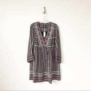Anthropologie Naomi Embroidered Tunic Dress S NWT